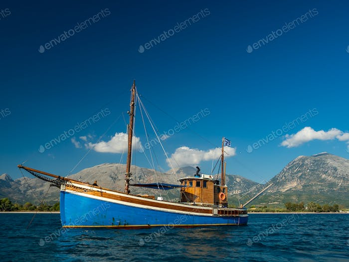 boat in the Ionian sea