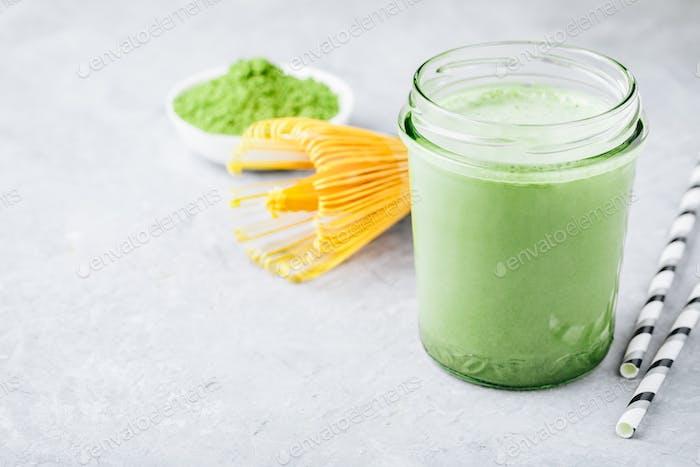 Grüner Tee Matcha Milchshake