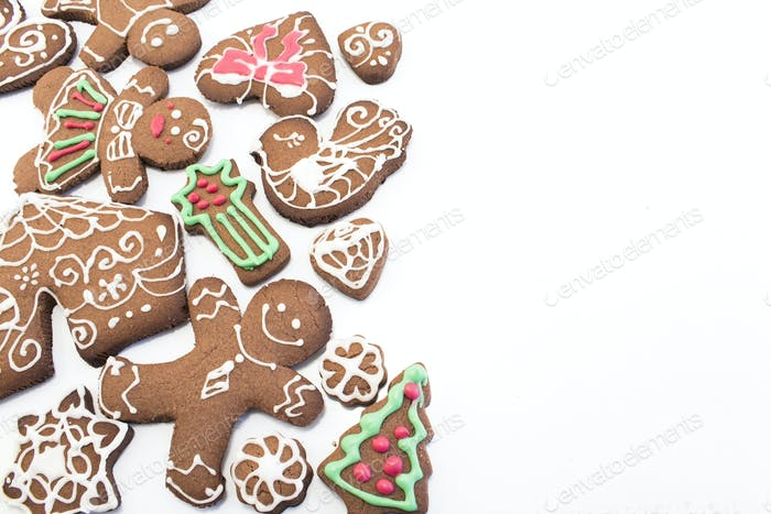 Gingerbread  Cookies with Copy Space