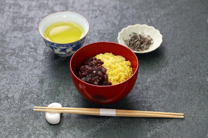 awa zenzai,  japanese traditional dessert