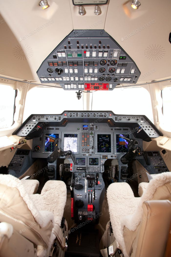 airplane cockpit controls