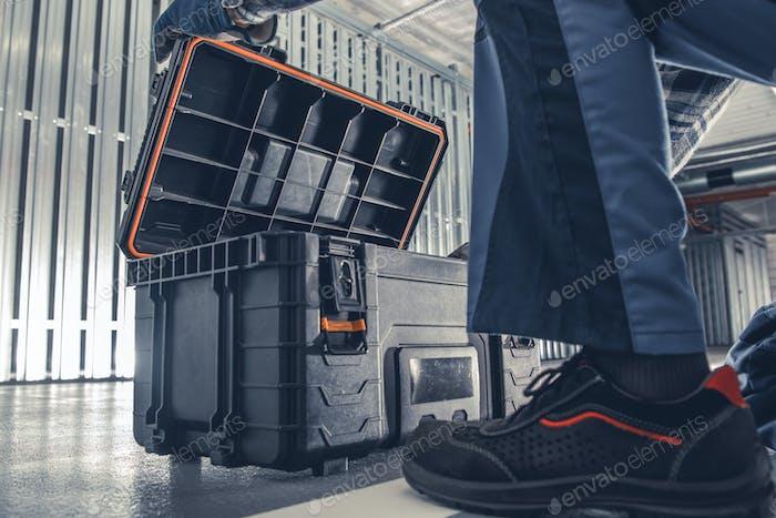 HVAC Worker Tools Box