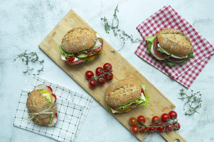 Four Sandwiches