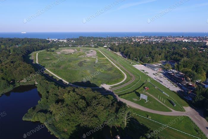 Aerial view of Copenhagen Racecourse, Denmark