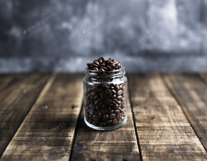 coffee beans in a jug