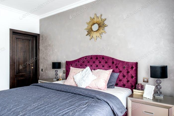 Modernes und gemütliches Interieur Schlafzimmer Design
