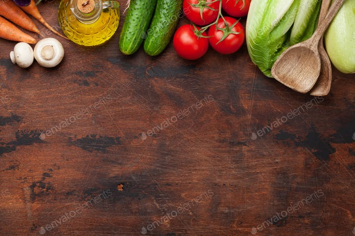 Assorted raw organic vegetables