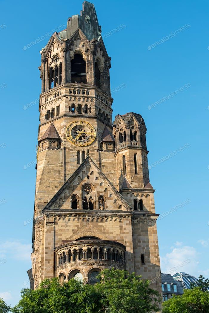 The damaged church of Berlin
