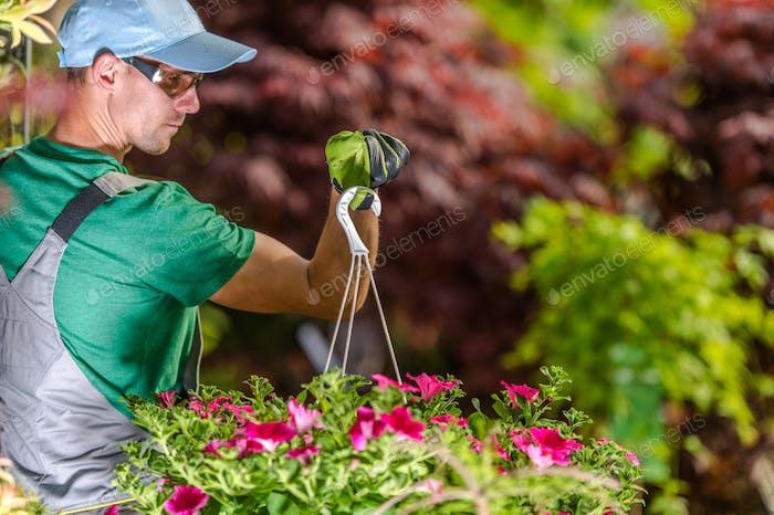 Gardener with Flowers Pot