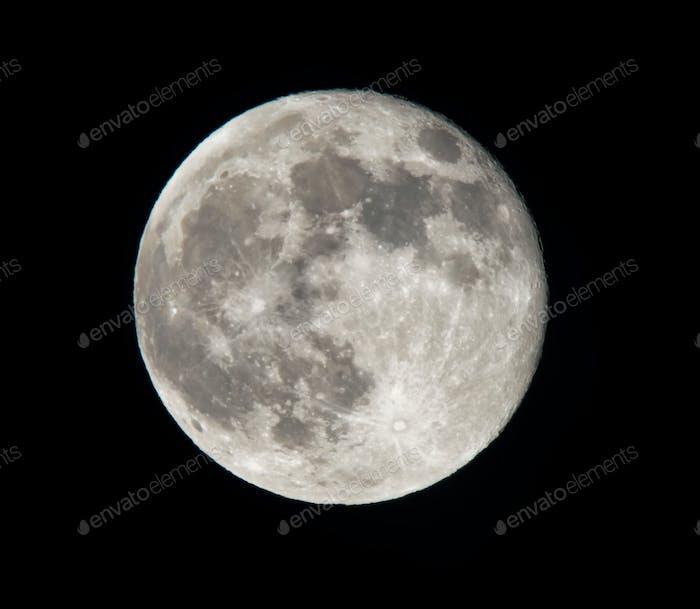 Full moon close up