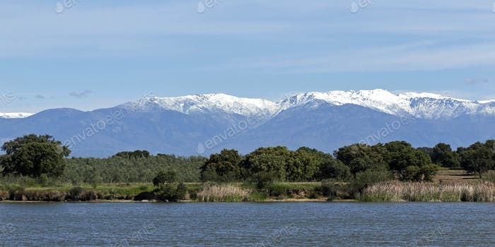 Landschaft in extremadura, spanien