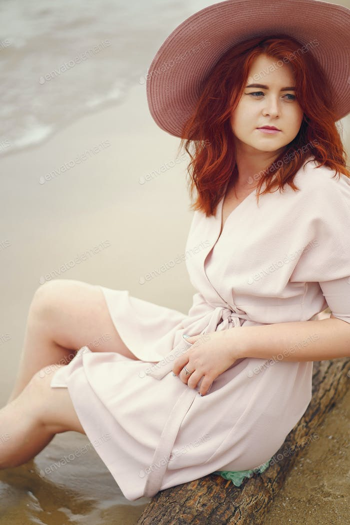 pretty girl in a beach