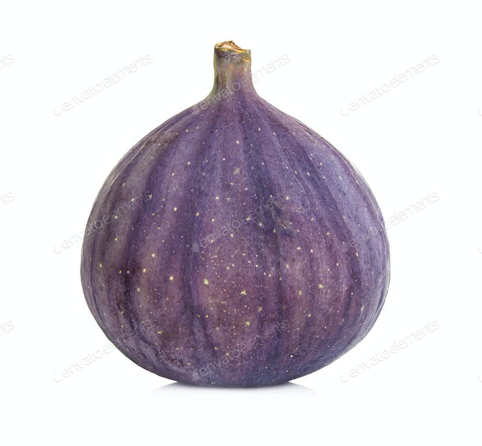 Ripe sweet fig fruit isolated on white background