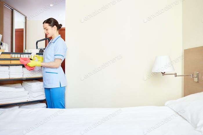 Serving hotel room
