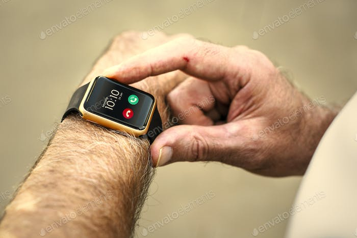 Closeup of smartwatch