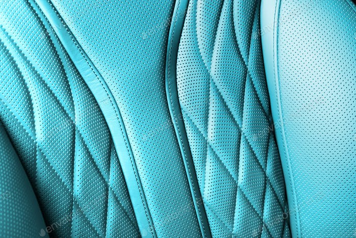 Cyan colored leather texture background