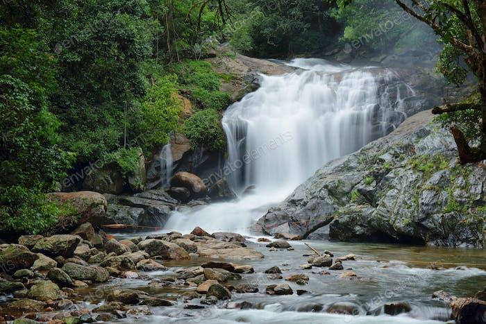 Lakkam Wasserfall im Norden von Munnar, Kerala, Indien