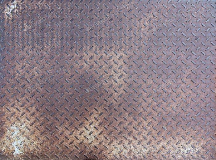Diamond rusty steel plate - grunge texture