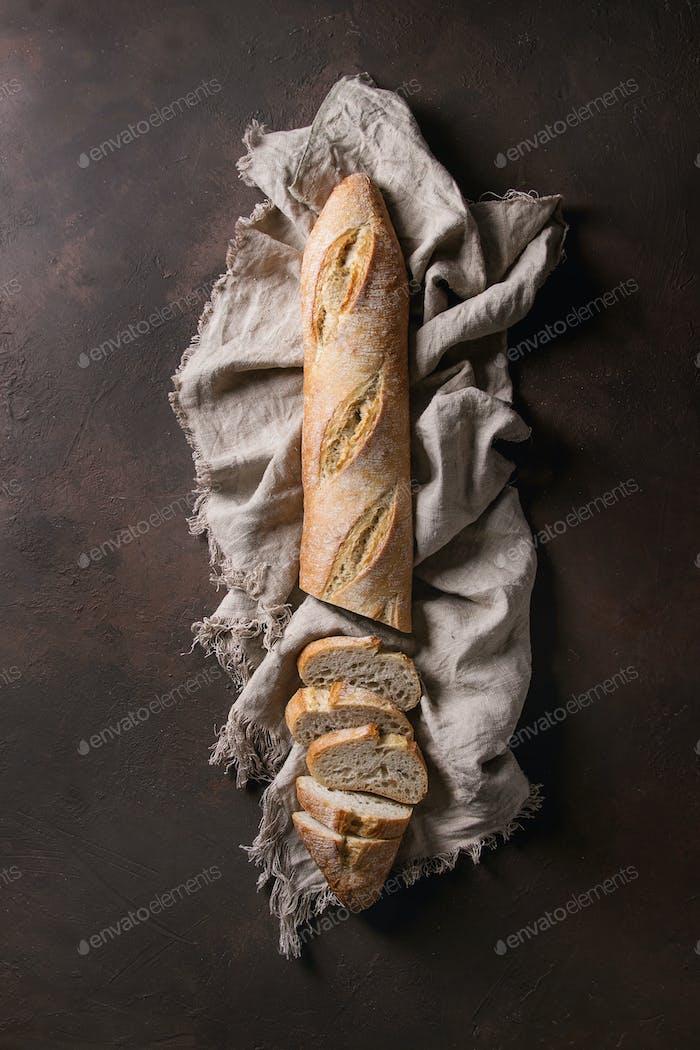 Handwerker Baguette-Brot