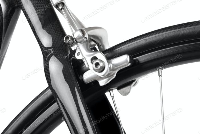 Detail of road bicycle isolated