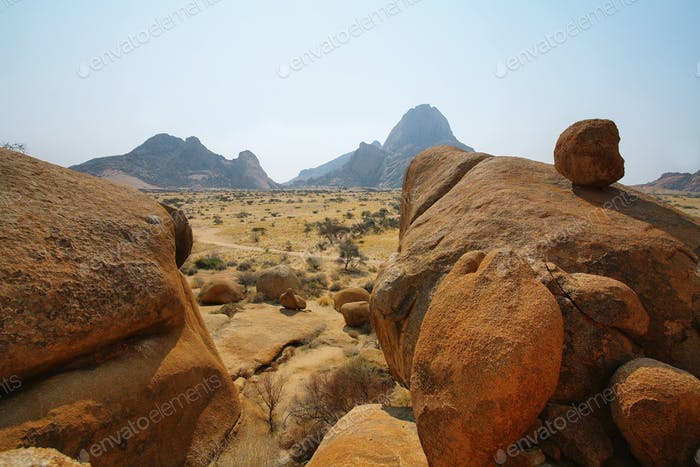 Colorful rocky landscape in Spitzkoppe
