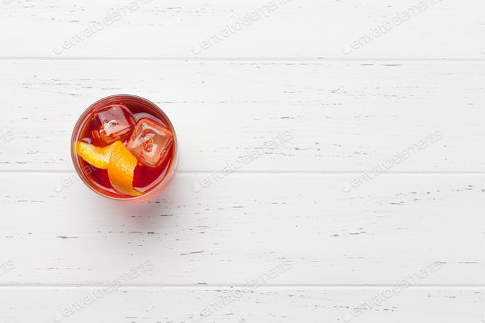 Negroni cocktail glass