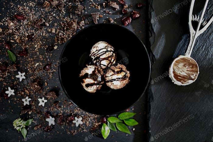Chocolate Rum Ice Cream