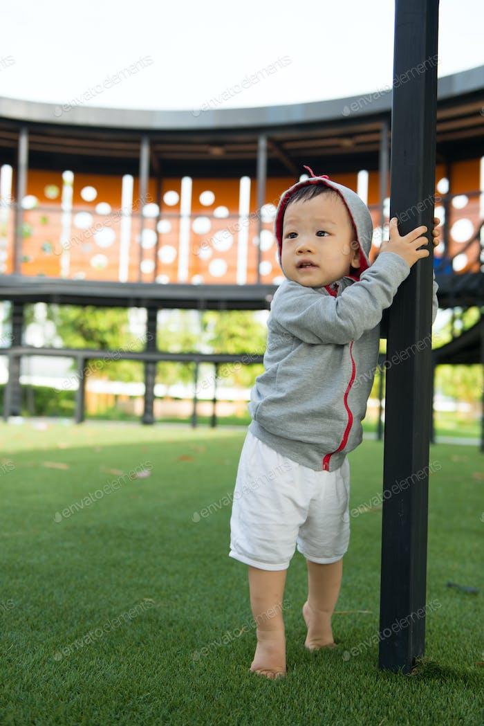 Porträt von kleinen asiatischen baby boy