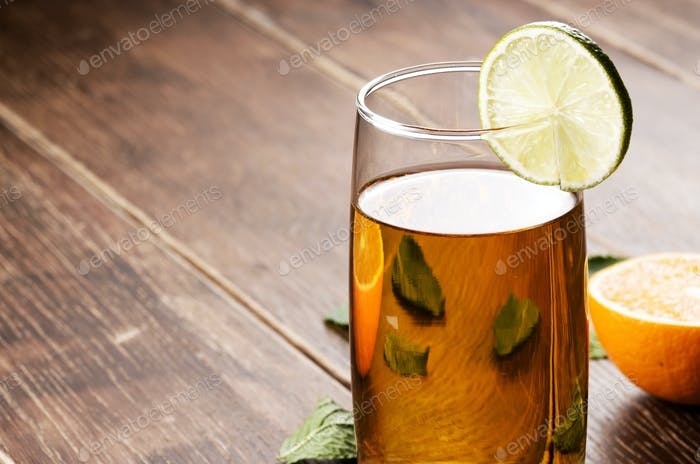 Lime and mint Fruit beer