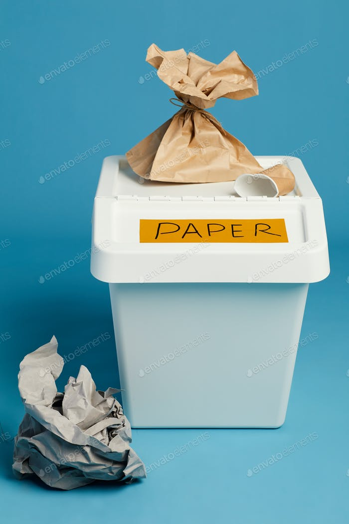 Plastic Bin for Paper Waste