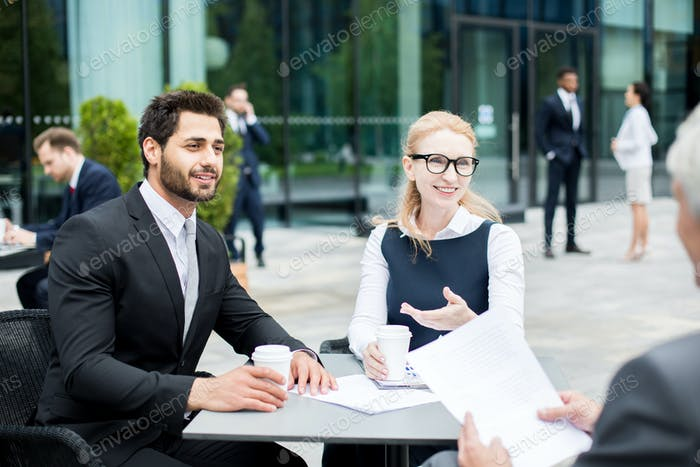 Financiers at meeting