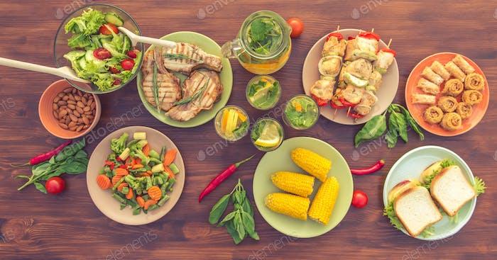 Gesundes nahrhaftes Essen