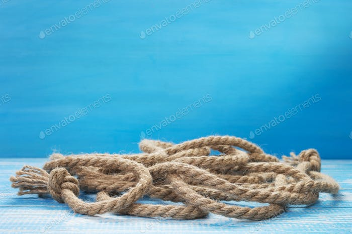 ship rope at wooden table