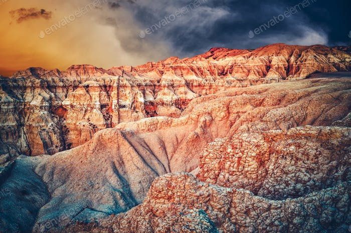 Badlands Scenery South Dakota