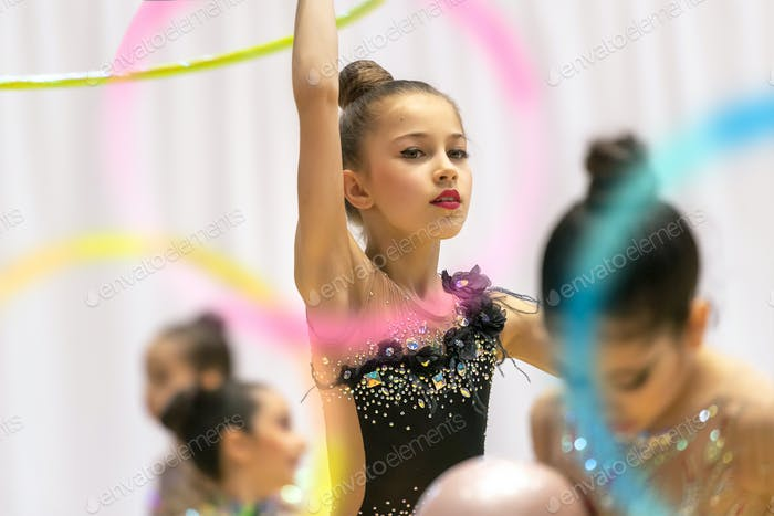 Rhythmic gymnastics performance