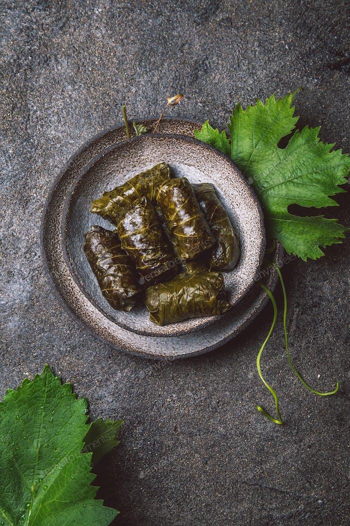 Latin American Mexican Chilean cuisine. Ninos envueltos