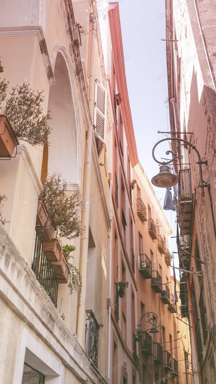 Cagliari alley in Sardinia
