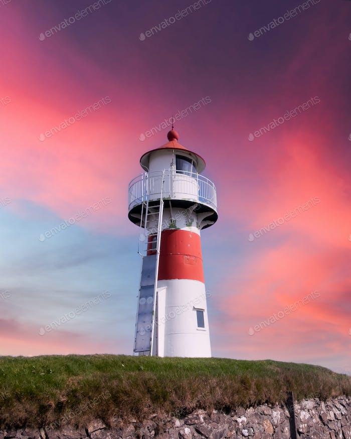 Old lighthouse outside Torshavn city