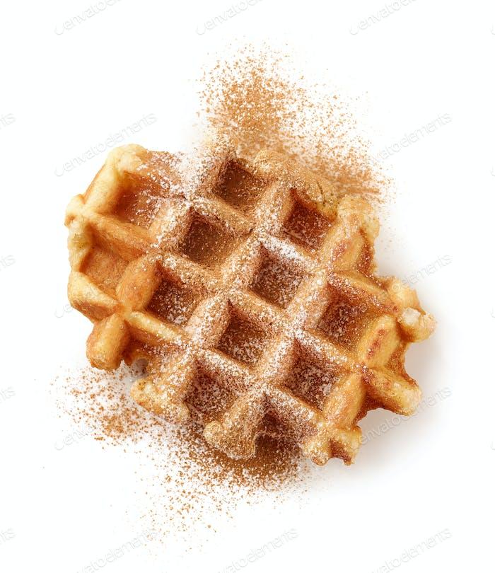 freshly baked belgian waffle
