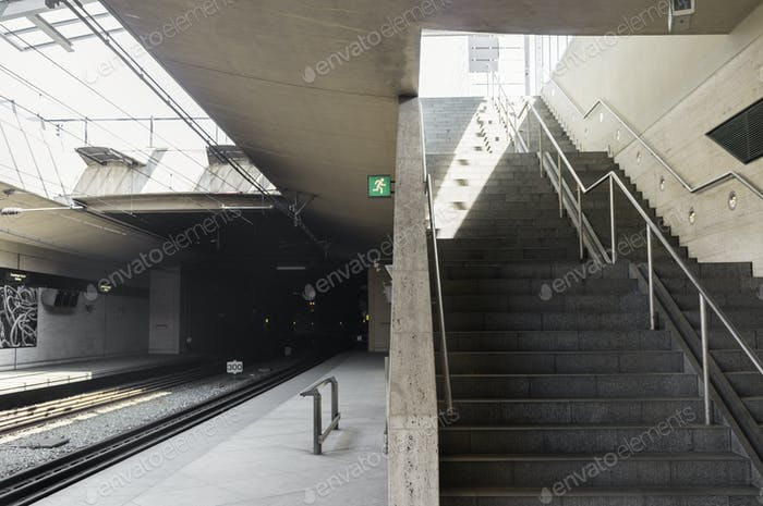 Steps in railway station