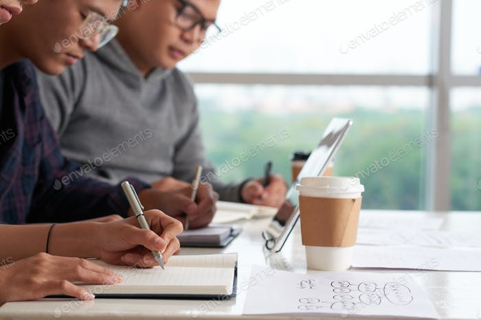 Asian Students Having Lecture