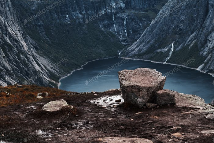 Amazing view of a beautiful Norwegian fjord.