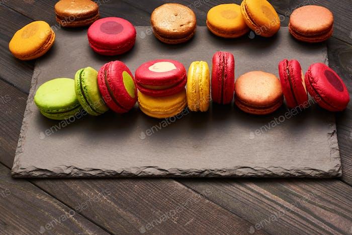 Französische leckere Dessert-Makronen