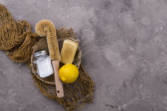 Zero waste natural accessories for cleaning