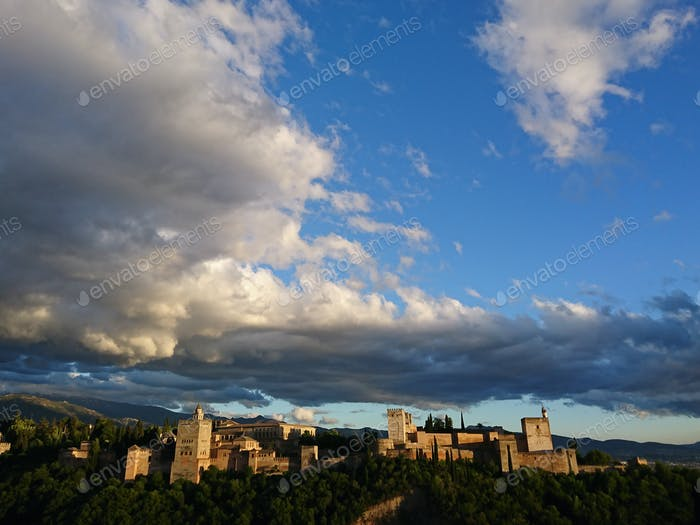 Dramatic views of the Alhambra