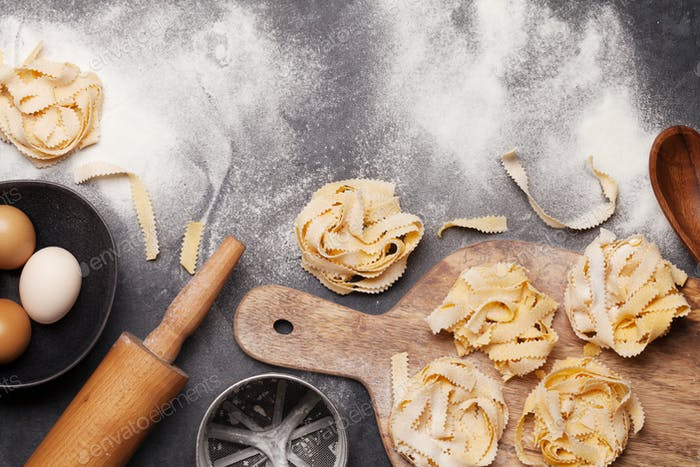 Homemade pasta making