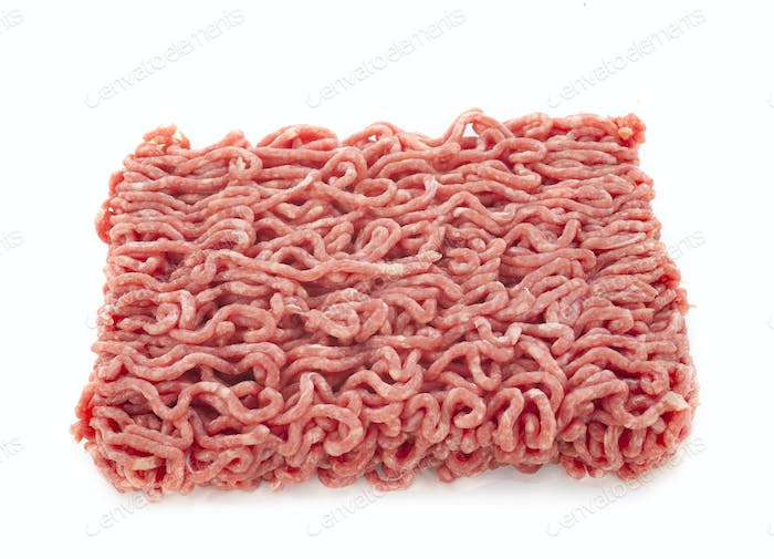 minced meat in studio
