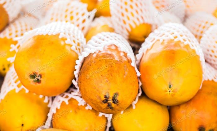 Papaya in the market