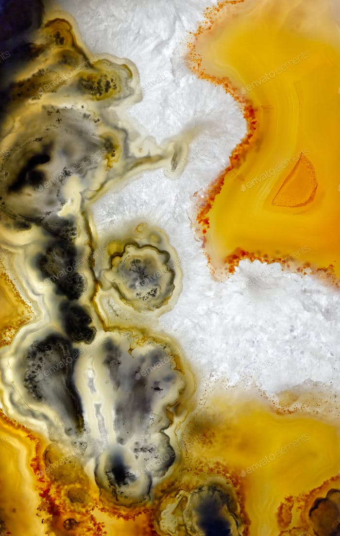 Agate abstract mineral texture