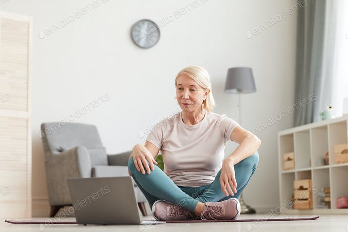 Woman sitting in the room